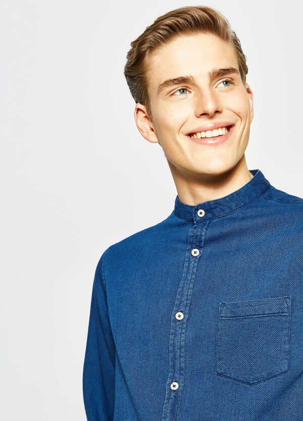 G&H casual shirt with Mandarin collar | OVS