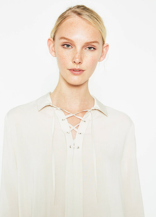 V-neck blouse with ties | OVS