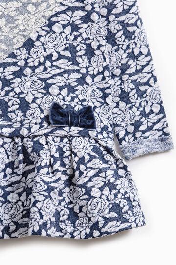 Vestitino stampa a cuore con glitter, Blu navy, hi-res