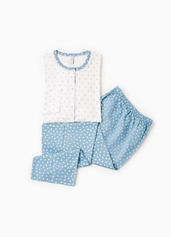 Polka dot cotton pyjamas with bows | OVS