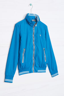 Solid colour windbreaker, Turquoise Blue, hi-res