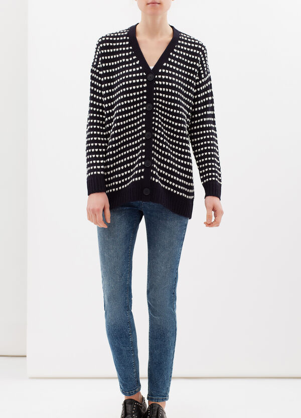 Long knitted cardigan | OVS