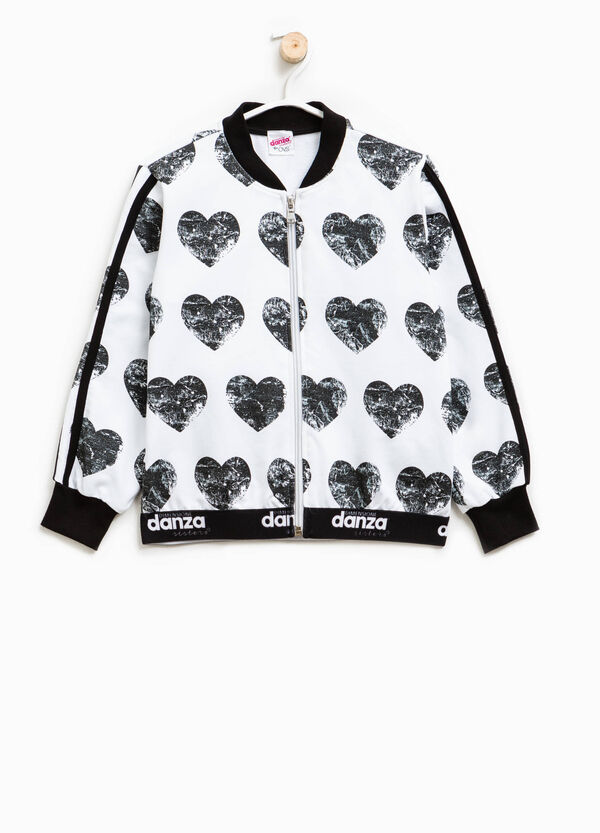 Dimensione Danza sweatshirt with hearts print | OVS