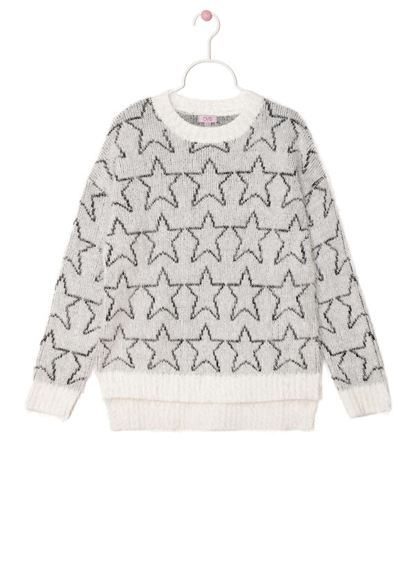 Knitted pullover with star pattern | OVS