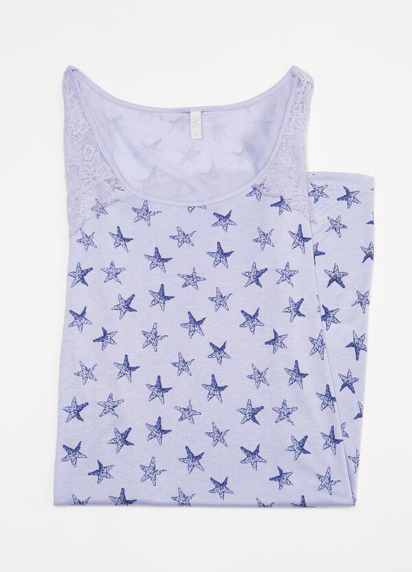 Camicia da notte con inserto pizzo | OVS