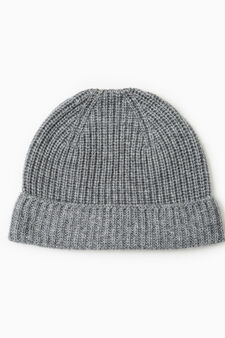 Cappello cuffia cashmere, Grigio melange, hi-res