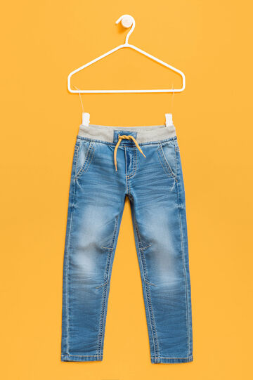Stretch jeans with elasticated waist, Soft Blue, hi-res