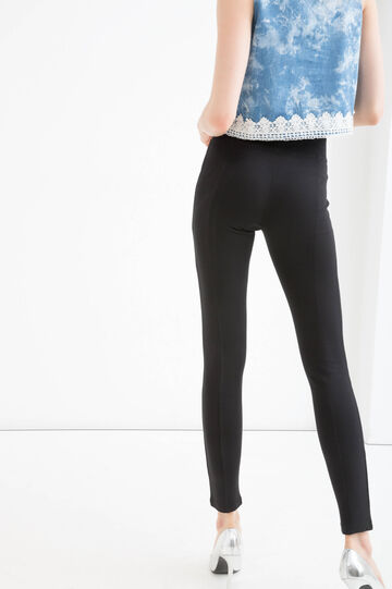 Jeggings misto viscosa stretch, Nero, hi-res