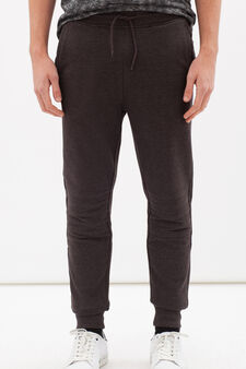 Pantaloni tuta puro cotone, Grigio, hi-res