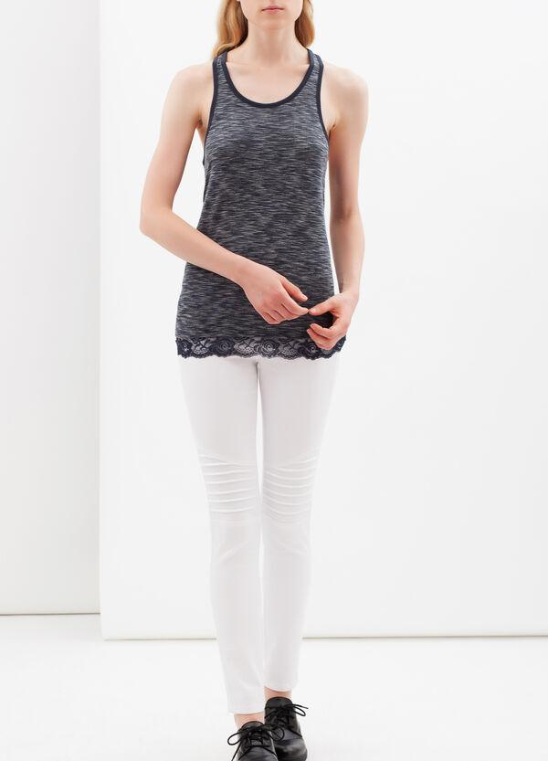 Vest with lace details | OVS
