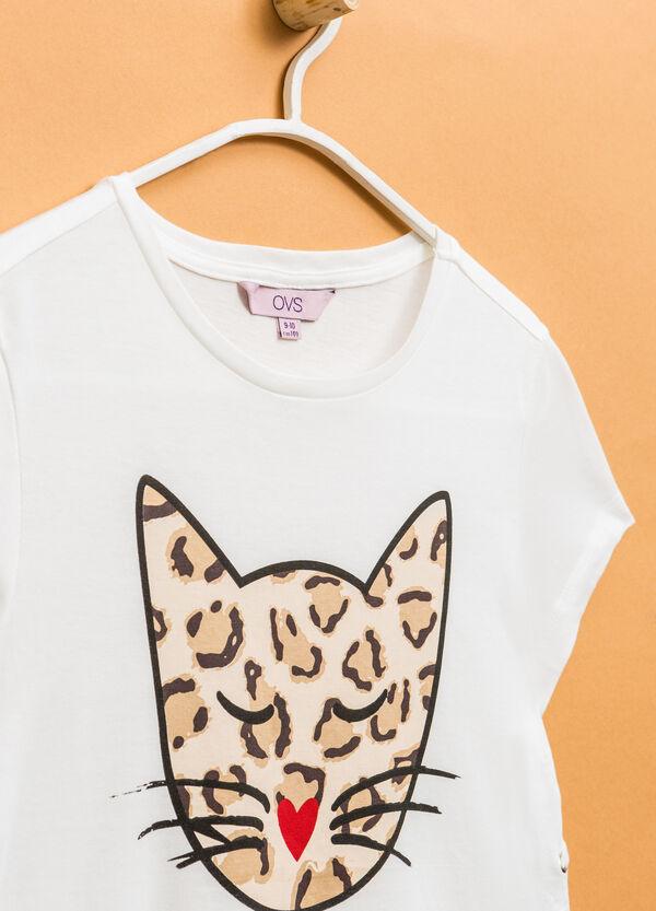 Camiseta en algodón 100% con cordones | OVS