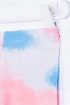 Pantaloni cotone stretch fantasia, Multicolor, hi-res