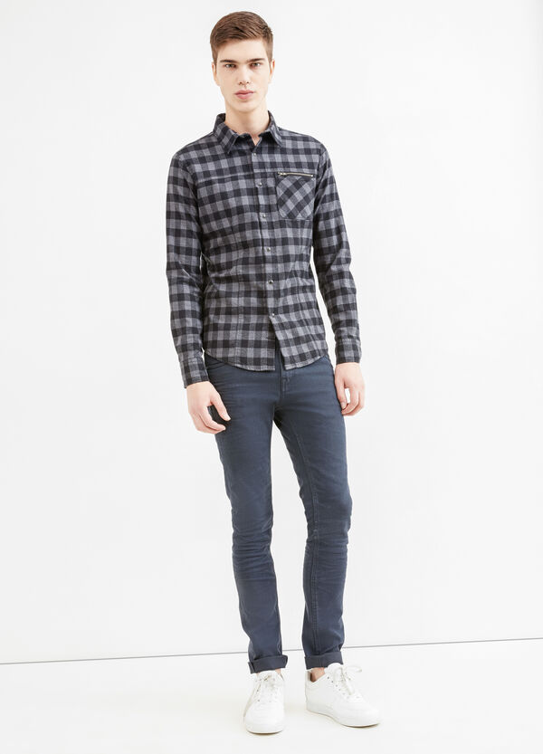 Slim-fit casual shirt with small pocket with zip | OVS