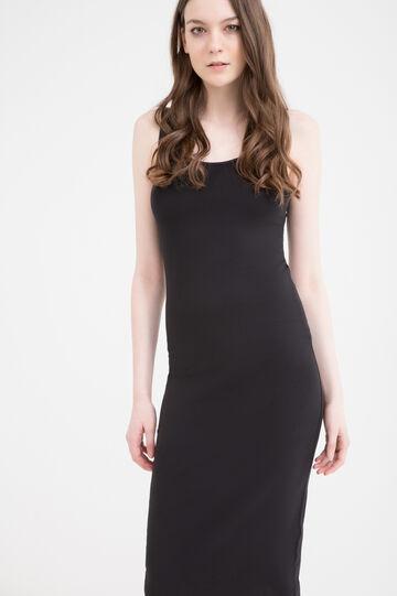Stretch sleeveless pencil dress, Black, hi-res