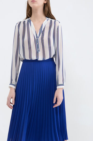 Stretch pleated skirt., Cornflower Blue, hi-res