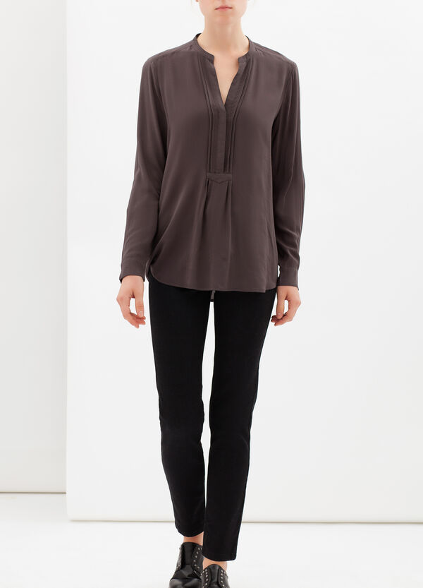 Mandarin collar blouse   OVS