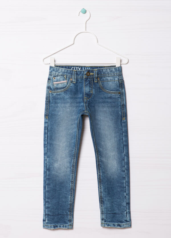 5-pocket, straight-fit jeans. | OVS