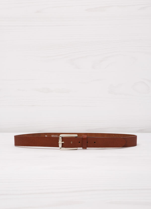 Real leather openwork belt. | OVS