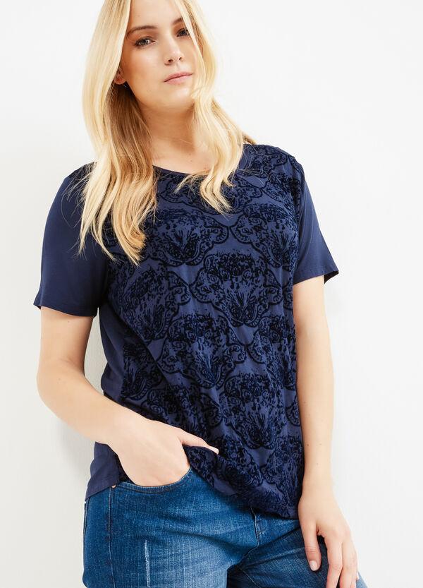 Camiseta Curvy de viscosa elástica con estampado | OVS