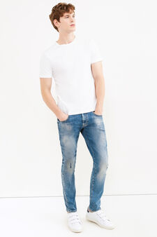 Jeans stretch con risvolto, Denim, hi-res