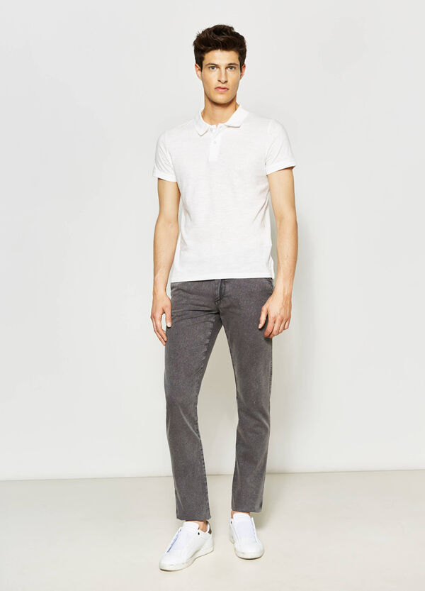 Mis-dyed-effect chino trousers | OVS