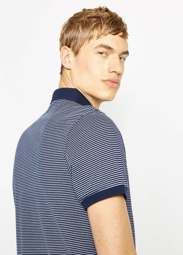 100% cotton striped polo shirt   OVS