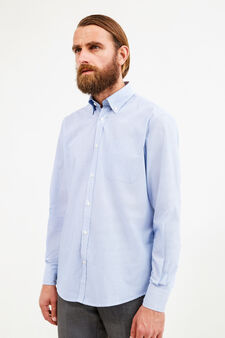 Regular-fit striped formal shirt, White/Light Blue, hi-res