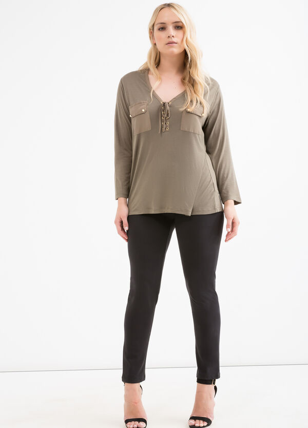 Curvy solid colour blouse | OVS