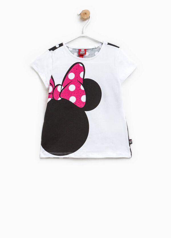 Polka dot T-shirt with Minnie Mouse print | OVS