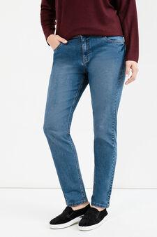 Jeans cinque tasche stretch Curvy, Blu denim, hi-res