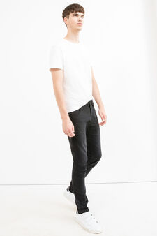 Used super skinny fit stretch jeans, Black, hi-res