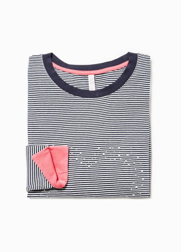 Camiseta de pijama con rayas y strass | OVS