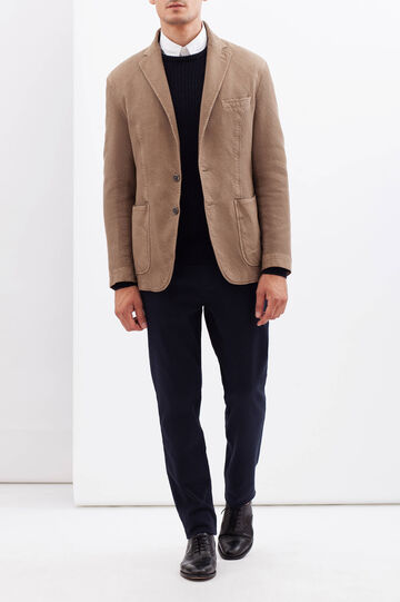 Rumford two-button plain jacket, Khaki, hi-res