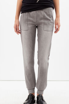 Joggers with drawstring, Light Grey, hi-res