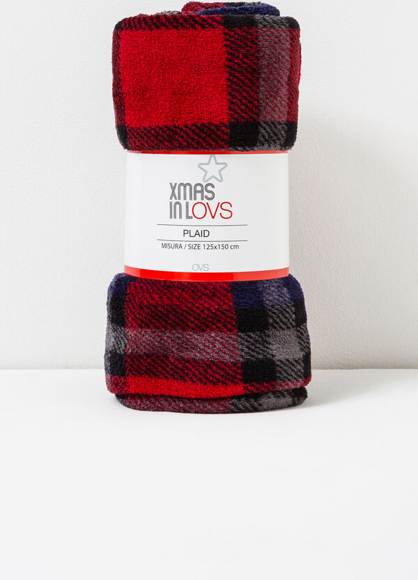 Plaid in pile tartan | OVS