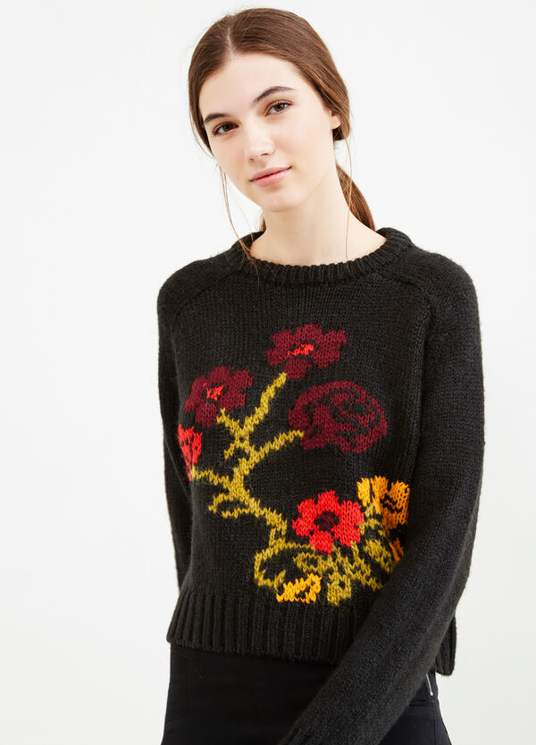 Embroidered knitted pullover | OVS