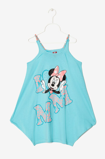 Vest op with print and rhinestones, Turquoise Blue, hi-res