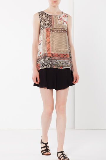 Sleeveless paisley blouse, Multicolour, hi-res