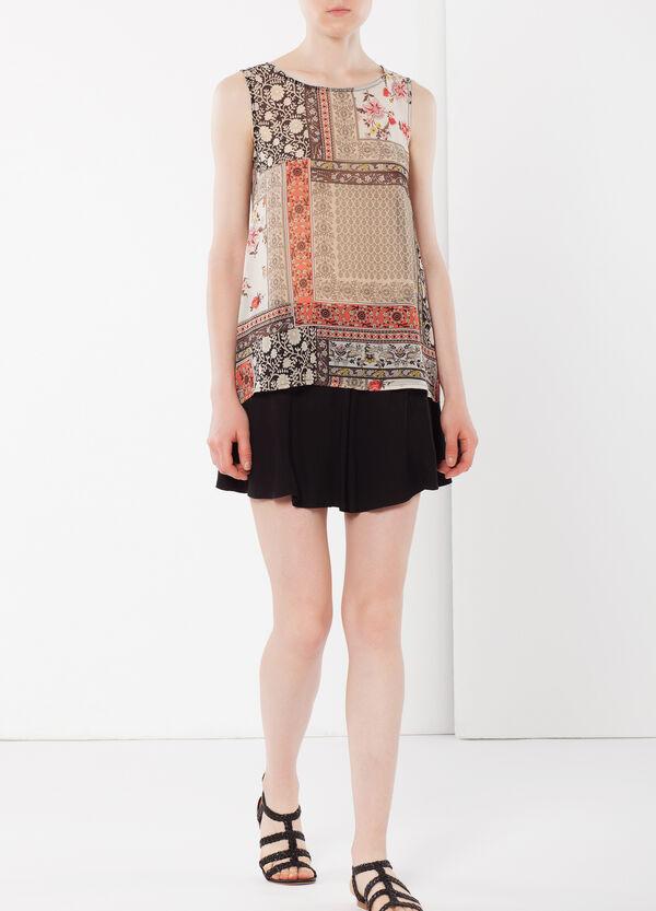 Sleeveless paisley blouse | OVS