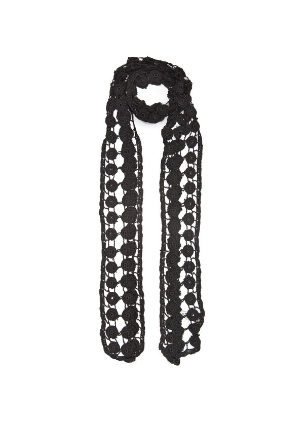 Crochet scarf in 100% viscose | OVS