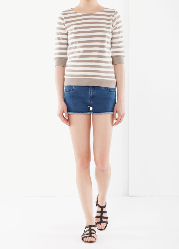 T-shirt cotone a righe | OVS