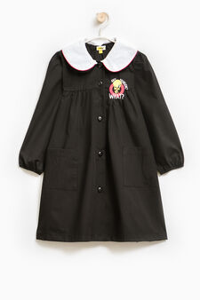 Smock with Tweetie Pie patch and embroidery, Black, hi-res