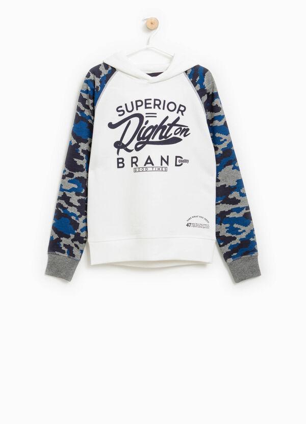 Sweatshirt with camouflage sleeves | OVS