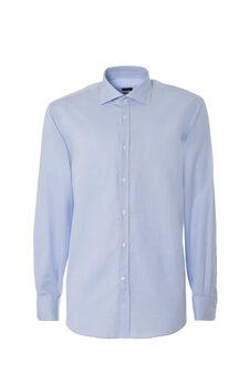 Regular fit shirt, White/Light Blue, hi-res