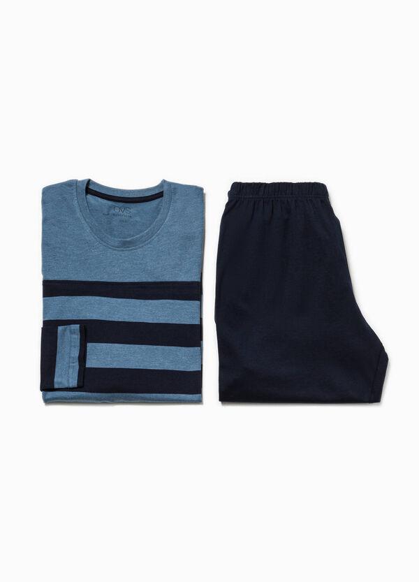 Pijama de rayas en algodón 100% con cuello redondo | OVS