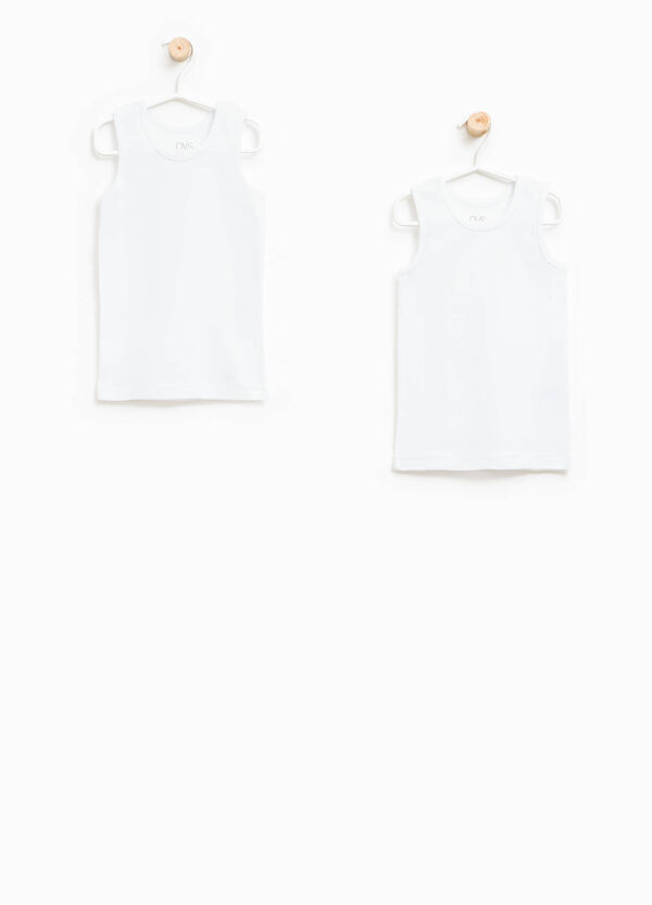 Set of two cotton under vests | OVS