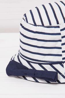 Striped fishing hat, White, hi-res