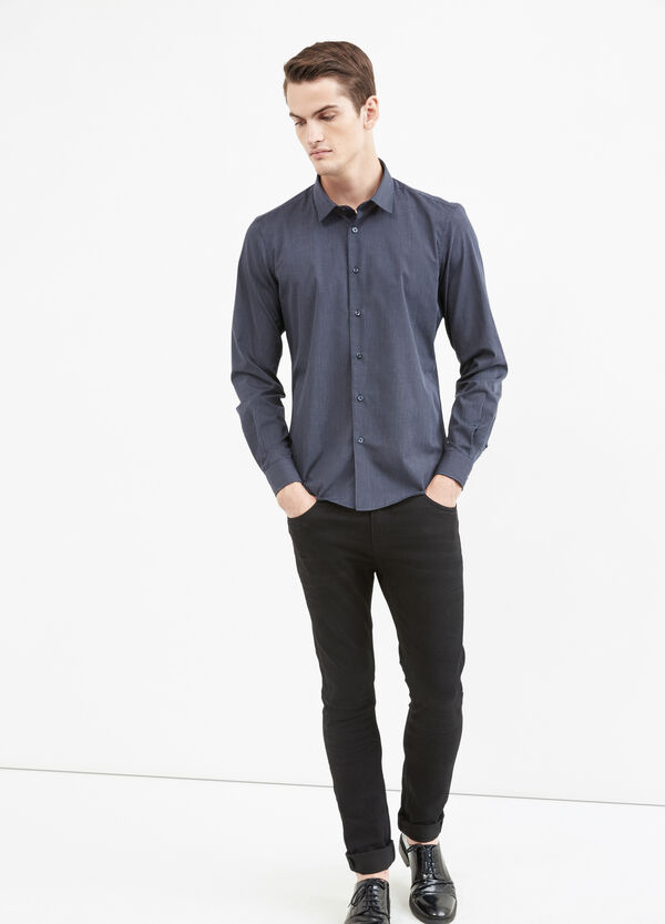 Camicia elegante a righe slim fit | OVS