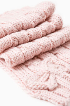 Solid colour knitted scarf, Pink, hi-res
