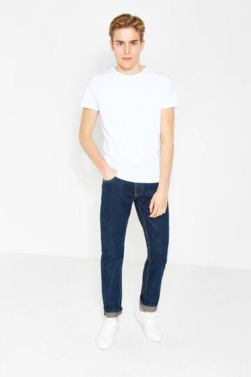 Jeans regular fit tinta unita con risvolto, Lavaggio scuro, hi-res